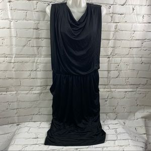 Lida Baday cowl neck dress with pockets